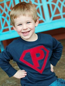 Superhero Applique Shirt