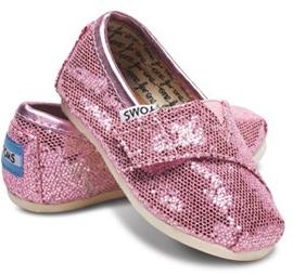 Tiny Toms Pink Glitter Classics