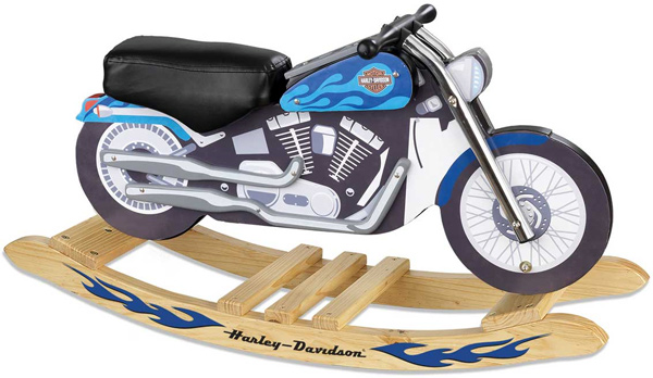 Harley Davidson Blue Softail Rocker