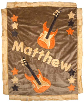 The Ultimate Rock n Roll - Brown Child's Blanket