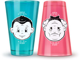 Fred Heads Up Juice Glasses