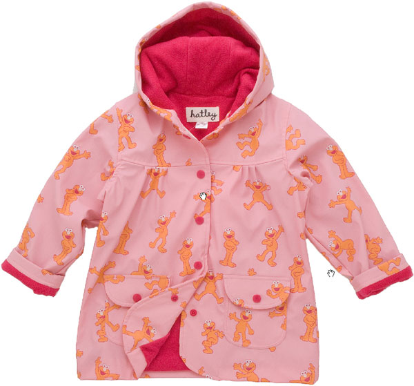 Pluie Pluie Girls Pink Floral Lined Raincoat