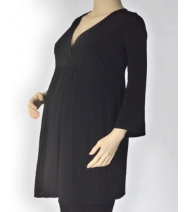 For Multiples Midnight Black Maternity Shirt