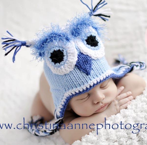 Newborn Baby Owl Hat