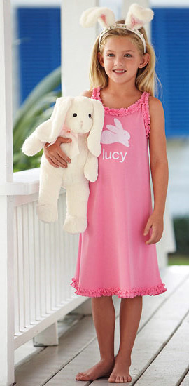 Personalized Bunny Nightgown
