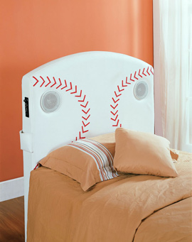 Homelegance Furniture Fantasy Collection Twin Baseball Speaker Headboard