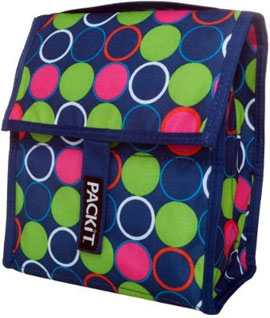 PackIt Freezable Lunch Bag, Forget Me Not Dot
