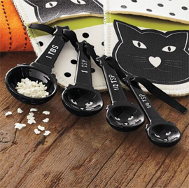 Black Cat Measuring Spoons Set