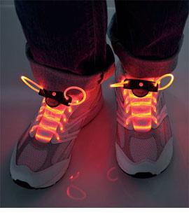 Colorful LED Light-Up Shoelaces