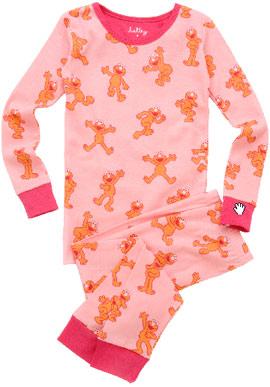 Pink Elmo Kids' Overall Print Pajama Set