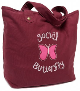 Post image for Social Butterfly Tote Bag