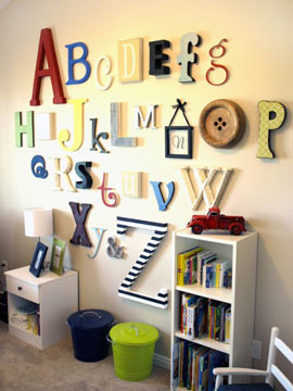 Wooden Letters Alphabet Set