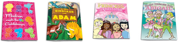 Frecklebox Personalized Coloring Books