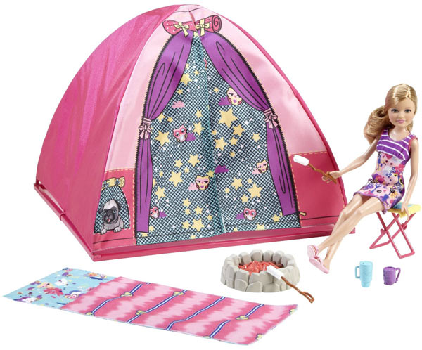 Barbie Sisters Tent And Stacie Doll Playset
