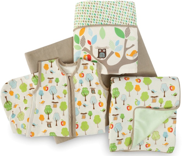 Skip Hop 4-Piece Bumper-free Crib Bedding Set, Treetop Friends